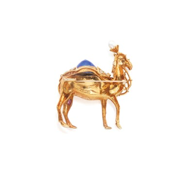 View 2. Thumbnail of Lot 316. Schlumberger for Tiffany & Co. | Gold, Enamel, Diamond, and Gem-Set Brooch.