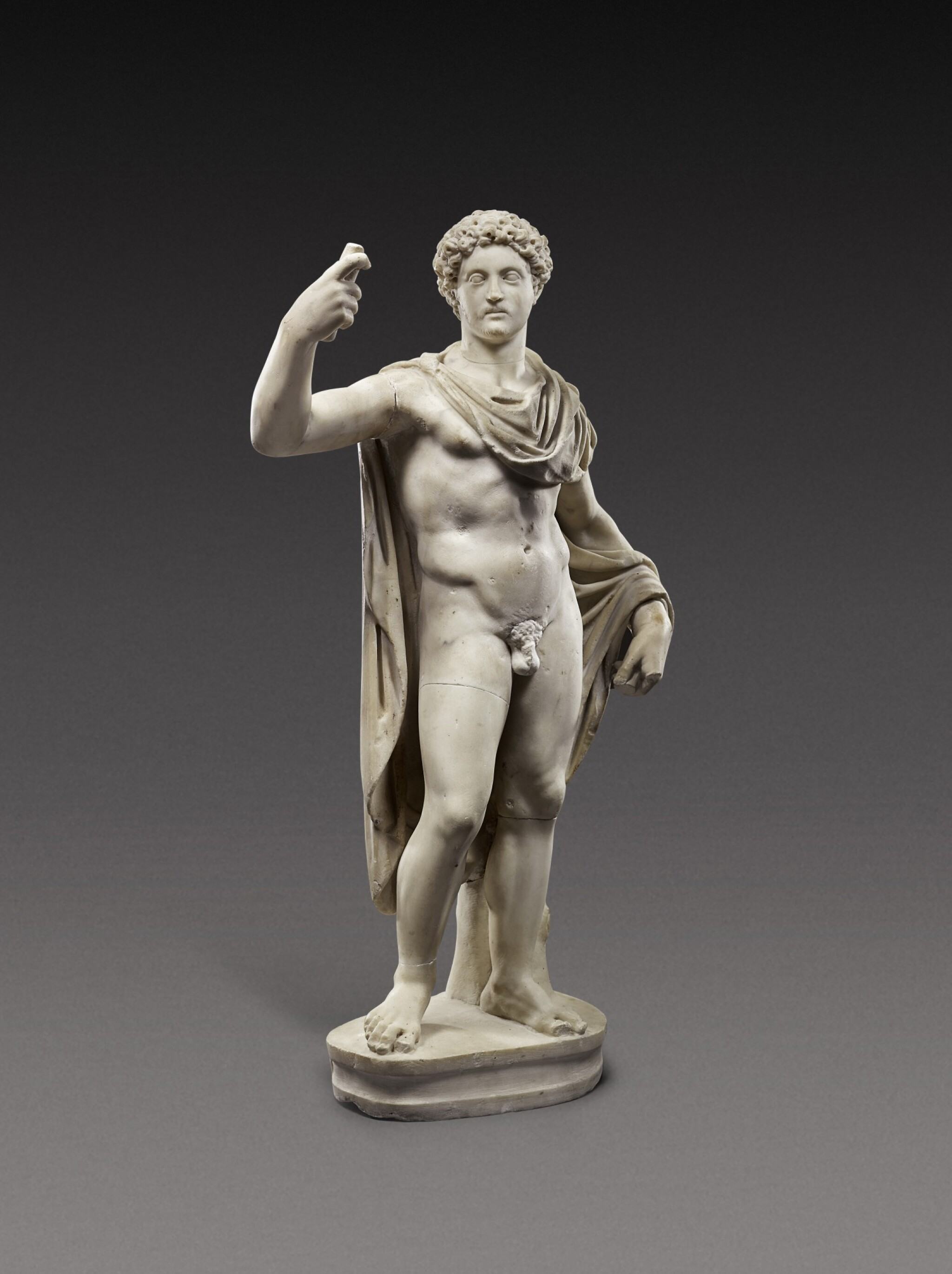 View 1 of Lot 67. A Roman Marble Figure of a Youth, circa 2nd Century A.D., with 18th-Century Head of Marcus Aurelius.