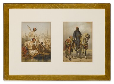 View 2. Thumbnail of Lot 170. Figures by a River and On Horseback: Plates 11 & 21.