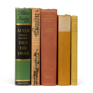 HUXLEY | Five first editions, two signed