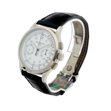 View 2. Thumbnail of Lot 168. REFERENCE 5170G A WHITE GOLD CHRONOGRAPH WRISTWATCH WITH PULSATIONS DIAL, CIRCA 2017.