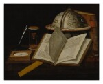 Sold Without Reserve   BRITISH SCHOOL, CIRCA 1700   A STILL LIFE OF VARIOUS SCIENTIFIC OBJECTS RELATED TO THE MEASUREMENT OF TIME AND NAVIGATION