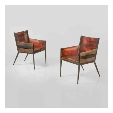 View 1. Thumbnail of Lot 350. Pair of Armchairs.