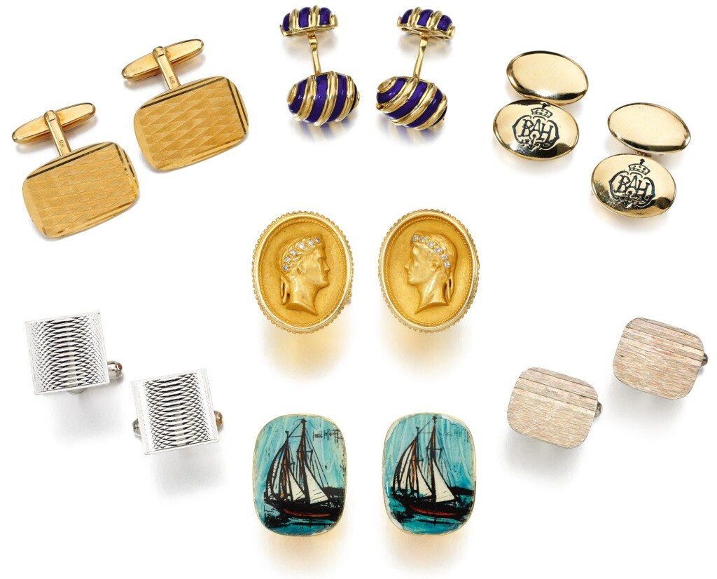 SEVEN PAIRS OF CUFFLINKS, ONE PAIR TIFFANY & CO