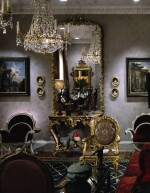 AN EMPIRE GILT BRONZE AND LEAD CRYSTAL CHANDELIER, EARLY 19TH CENTURY