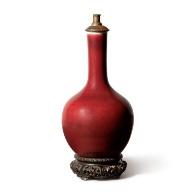 A CHINESE COPPER-RED-GLAZED BOTTLE VASE, 19TH CENTURY