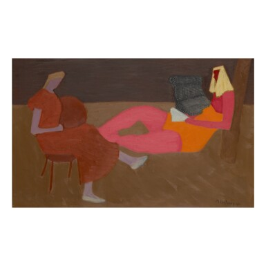 View 1. Thumbnail of Lot 28. MILTON AVERY |  PORCH SITTERS.