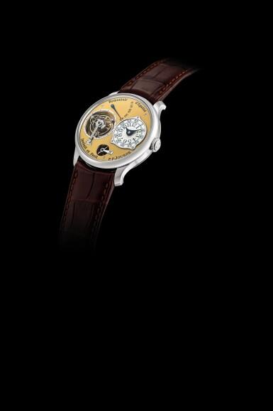 "View 4. Thumbnail of Lot 2212. F.P. Journe | Tourbillon Souverain ""Remontoir d'Egalite"" | A limited edition stainless steel tourbillon wristwatch with constant force remontoire and power reserve indication, Circa 2015 | Tourbillon Souverain 'Remontoir d'Egalite'  限量版精鋼陀飛輪腕錶,備恆動力裝置及動力儲備顯示,約2015年製."
