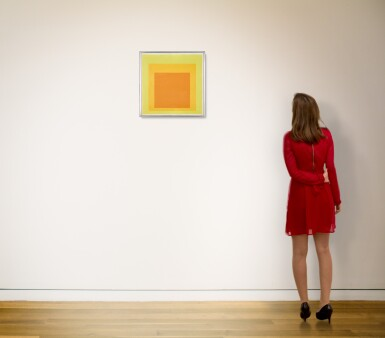 View 3. Thumbnail of Lot 816. JOSEF ALBERS | STUDY FOR HOMAGE TO THE SQUARE: RESOLUTE.