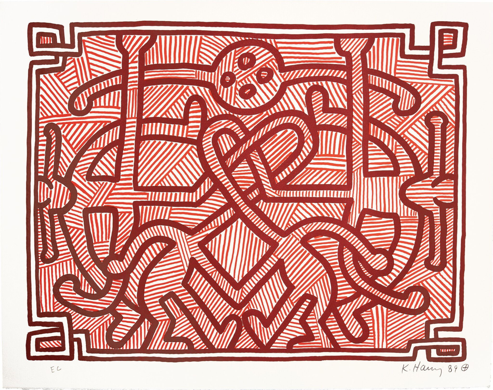 View full screen - View 1 of Lot 140. KEITH HARING | CHOCOLATE BUDDHA 1-5 (L. PP. 122-125).
