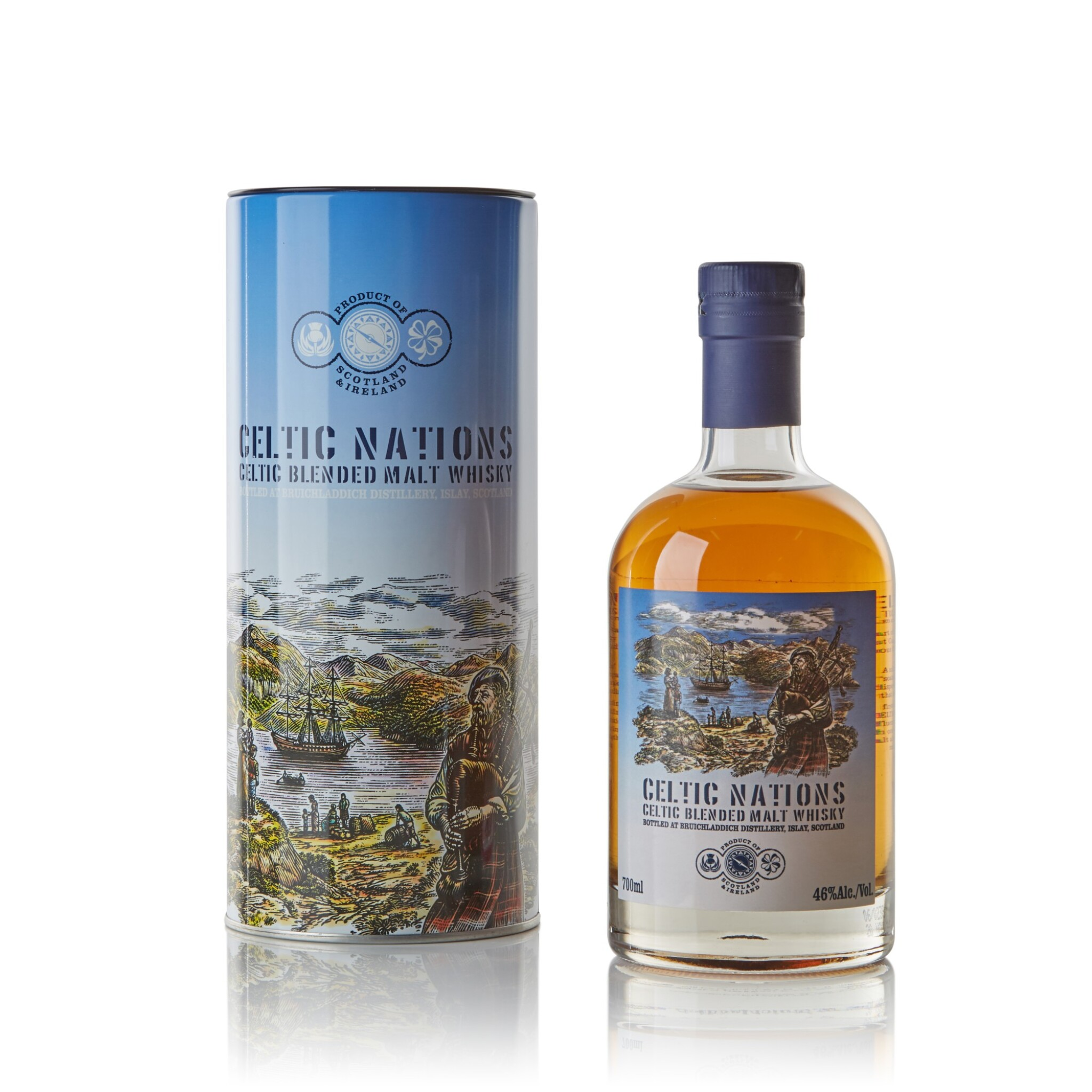 View full screen - View 1 of Lot 136. Bruichladdich Celtic Nations 46.0 abv NV .