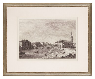 View 2. Thumbnail of Lot 23. GIOVANNI ANTONIO CANAL, CALLED CANALETTO | AL DOLO (BROMBERG 4).