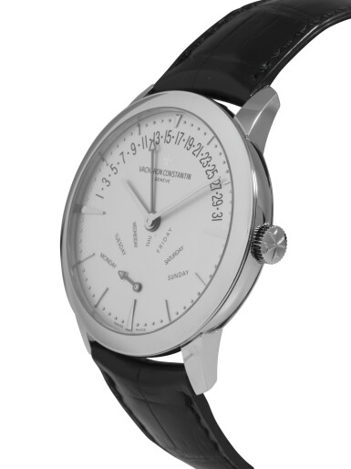 View 2. Thumbnail of Lot 5. VACHERON CONSTANTIN | PATRIMONY, REF 86020 WHITE GOLD WRISTWATCH WITH DAY AND DATE CIRCA 2012.