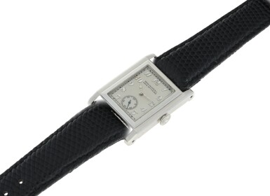 View 6. Thumbnail of Lot 40. PATEK PHILIPPE | A PLATINUM SQUARE SHAPED WRISTWATCH, MADE IN 1929 .