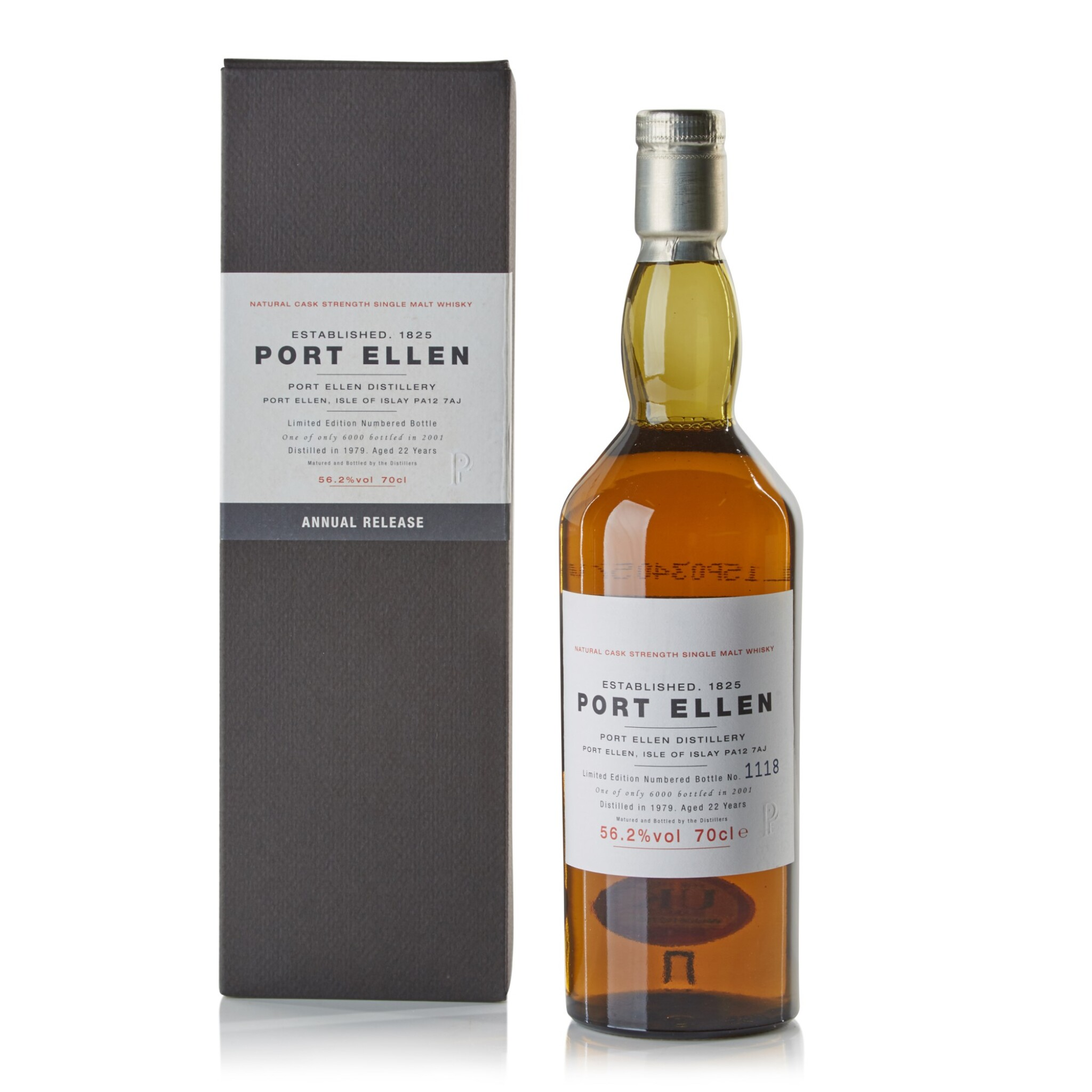 View full screen - View 1 of Lot 101.  Port Ellen First Annual Release 22 Year Old 56.2 abv 1979 .