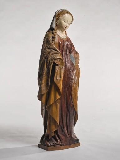 EASTERN NETHERLANDISH, SECOND HALF 15TH CENTURY   FEMALE SAINT