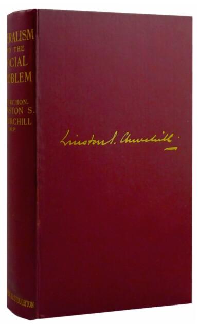 View 1. Thumbnail of Lot 23. Winston S. Churchill | Liberalism and the Social Problem. London: Hodder & Stoughton, 1909.