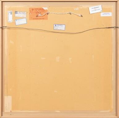View 3. Thumbnail of Lot 36. JEAN COCTEAU. Trois astrologues. 1954. Technique mixte sur isorel.. 102,5 x 102,5 cm..