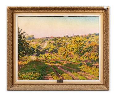 View 3. Thumbnail of Lot 109. Paysage au clocher.