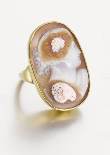 View 3. Thumbnail of Lot 112. ITALIAN, EARLY 19TH CENTURY | CAMEO WITH BACCHUS.