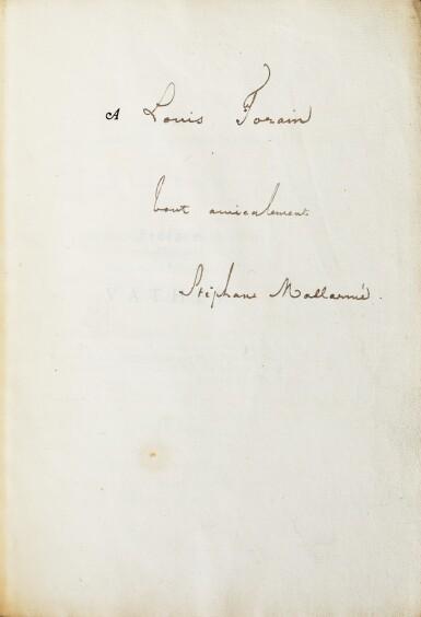 View 1. Thumbnail of Lot 137.  Préface à Vathek. 1876. 1/95 sur Hollande ; corrections autographes. Exemplaire du peintre Forain.