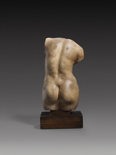 View 4. Thumbnail of Lot 30. A Hellenistic Marble Torso of Aphrodite Anadyomene, circa 2nd/1st Century A.D..
