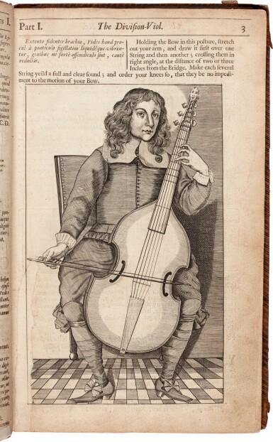 View 1. Thumbnail of Lot 112. C. Simpson. Chelys...The Division-Viol, Editio Secunda, 1667.