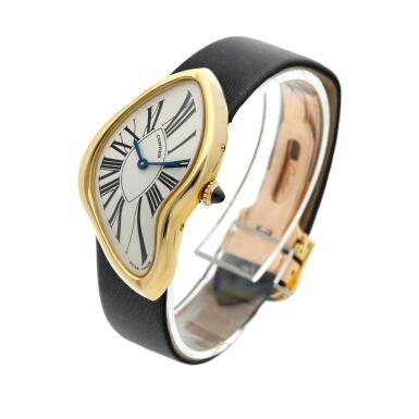 View 2. Thumbnail of Lot 306. Crash  A commissioned piece yellow gold asymmetrical wristwatch, Circa 2007.