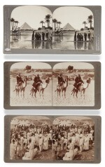TRAVEL PHOTOGRAPHS | A large collection of photographs including stereo cards, and magic lantern slides, together with a graphoscope. [late 19th century to early 20th century]