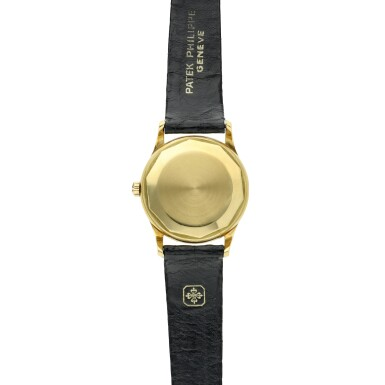 View 5. Thumbnail of Lot 233. Reference 3439  A yellow gold automatic wristwatch, Made in 1961.