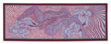 View 1. Thumbnail of Lot 223. JUDY CHICAGO | BIRTH TRINITY QUILT .