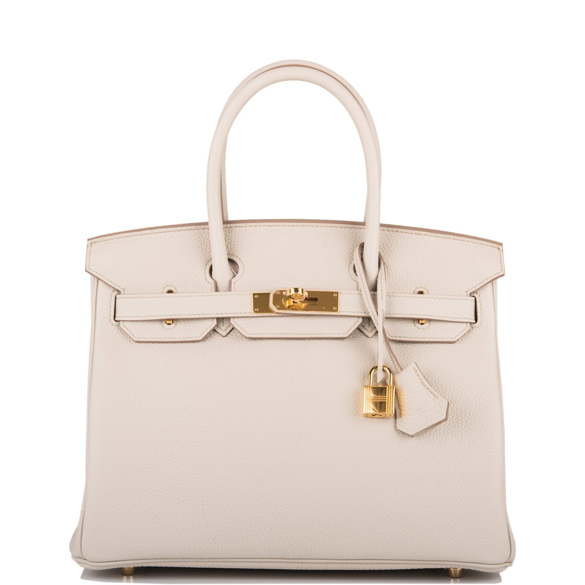 View full screen - View 1 of Lot 5. Hermès Beton Birkin 30cm of Togo Leather with Gold Hardware.