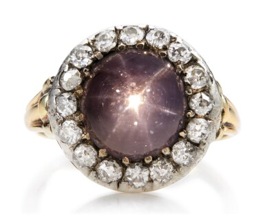 View 4. Thumbnail of Lot 1048. STAR SAPPHIRE AND DIAMOND RING, LATE 19TH CENTURY.