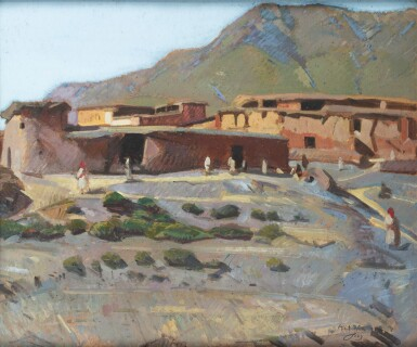JACQUES MAJORELLE | The Village of Aït Rba in The Atlas Mountains, Morocco