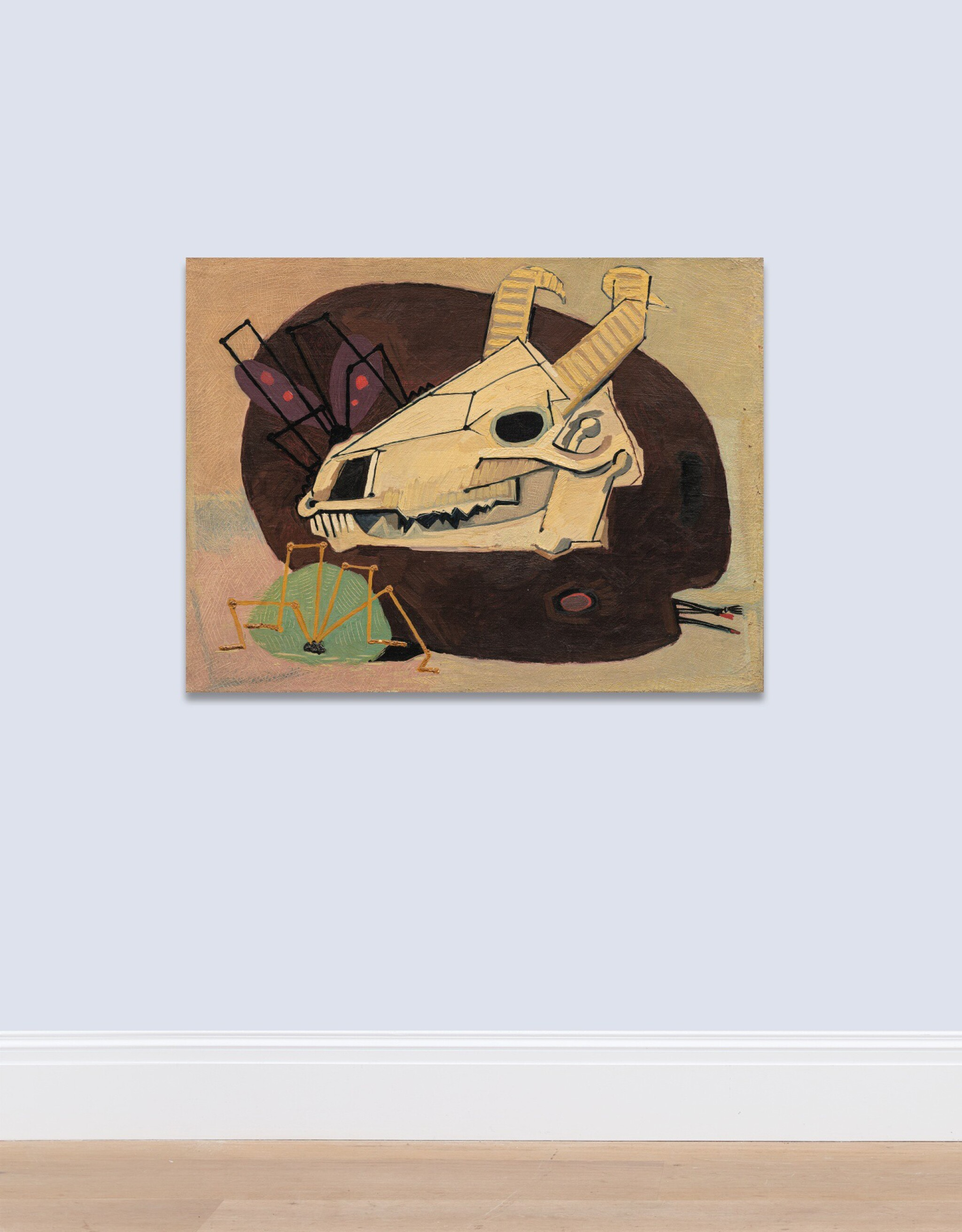 View full screen - View 1 of Lot 11. MANSOUR GHANDRIZ   SKULL AND PALETTE.