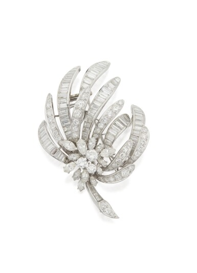 DIAMOND CLIP-BROOCH