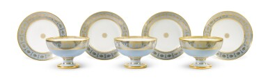 View 5. Thumbnail of Lot 82. A SÈVRES FOND AGATE COMPOSITE PART DESSERT SERVICE, VARIOUS DATES, PREDOMINANTLY 1833-1859.