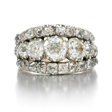 View 1. Thumbnail of Lot 2. Diamond ring, circa 1800.