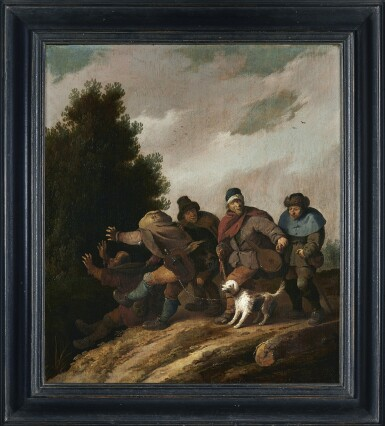 View 2. Thumbnail of Lot 281. PIETER DE BLOOT | PARABLE OF THE BLIND LEADING THE BLIND.