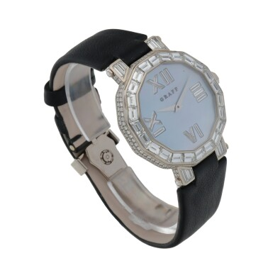 View 3. Thumbnail of Lot 419. REF GXXVI WHITE GOLD AND DIAMOND-SET WRISTWATCH WITH MOTHER-OF-PEARL DIAL CIRCA 2010.