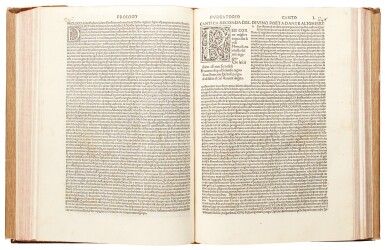 View 2. Thumbnail of Lot 182. Dante, Commedia, Venice, 1484, modern crushed brown morocco.