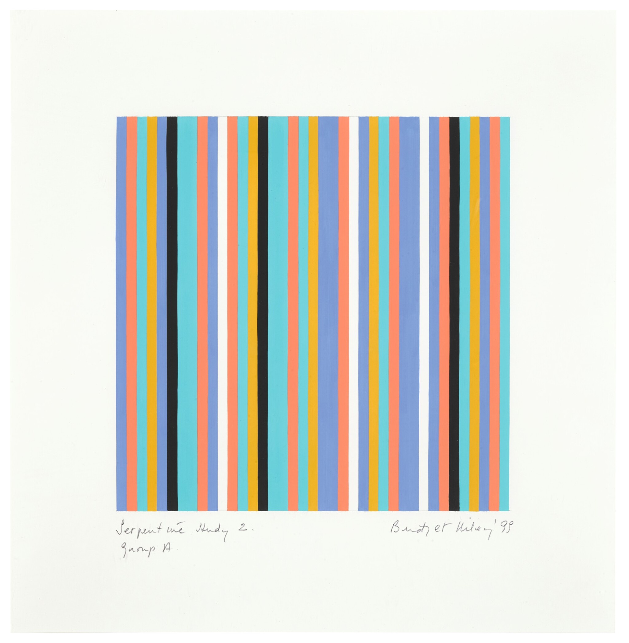 View 1 of Lot 653. BRIDGET RILEY | SERPENTINE STUDY 2, GROUP A.