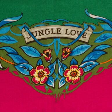 "View 2. Thumbnail of Lot 126. Hermès ""Jungle Love"" Cashmere and Silk Shawl 140cm."