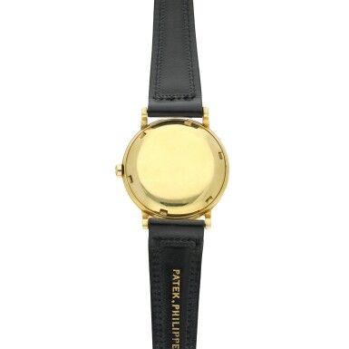 View 5. Thumbnail of Lot 239. Reference 3415  A yellow gold automatic wristwatch, Made in 1958.