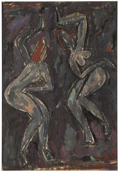 View 1. Thumbnail of Lot 66. KRISHNA HOWLAJI ARA | UNTITLED (DANCERS).