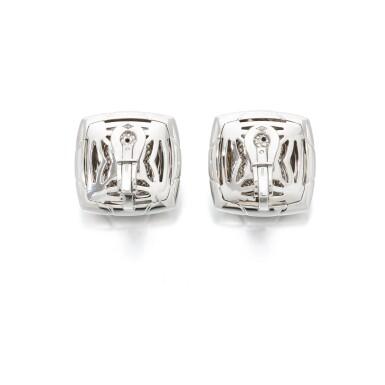 View 2. Thumbnail of Lot 134. Pair of diamond earclips (Paio di orecchini a clip con diamanti).