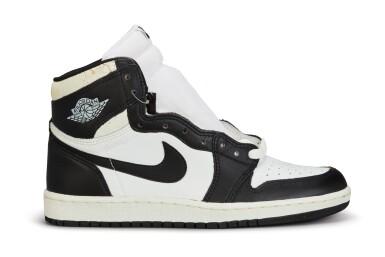 View 6. Thumbnail of Lot 11. Nike Air Jordan 1 High OG (1985) 'Black & White'  Size 8.5.
