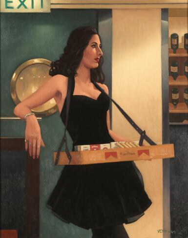 JACK VETTRIANO, O.B.E.   THE CIGAR GIRL