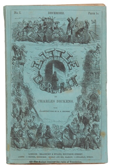 Dickens, Little Dorrit, 1855-57, first edition, in the original 19/20 parts