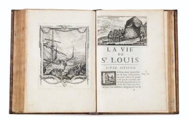View 3. Thumbnail of Lot 9. La Vie de Saint-Louis. Paris, 1689. Exemplaire de présent aux armes du Régent. Edition originale..